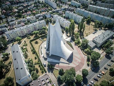 09. Kirche der Göttlichen Gnade | Church of Divine Mercy, Kalisz. Architekten | architects: Jerzy Kuźmienko, Andrzej Fajans; Errichtet | construction dates: 1977-1989