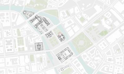 01 Lageplan der Spreeinsel Berlin