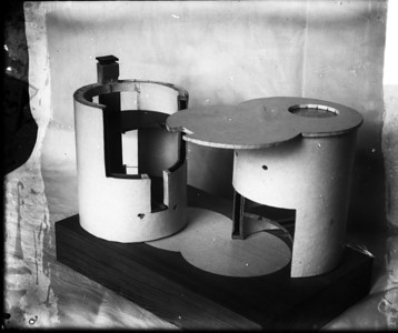 03 Model of the house presented by K. Melnikov for approval of the project. 1927. Not preserved.