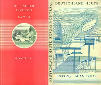 09Handbuch zum deutschen Expo--Beitrag, Umschlag mit Pavillon--Darstellung