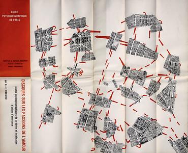 04 Erkundung urbaner Strukturen durch Psychogeografie: Guide Psychogéographique de Paris – Discours sur les Passions de l´Amour von Guy Debord (1957), Gründungsmitglied der Situationistischen Internationale.