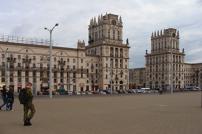 11 Stalinist archi­tecture remains associated with quality and prestige: central Minsk.