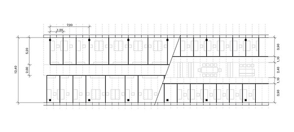 Bund ohne Mittelstütze Abbildung: © Johann Eisele, Benjamin Trautmann, Frank Lang / TU Darmstadt