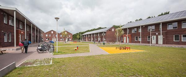 Auffangzentrum in Ter Apel/NiederlandeArchitekt: De Zwar:te HondDer zentrale Grünbereich bietet vielfältige Möglichkeiten für Aktivitäten.Bild: © De Zwarte Hond - Foto: Harry Cock