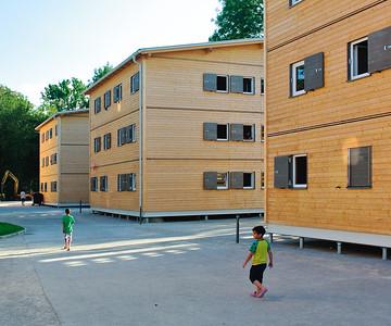Refugium aus Holz in Salzburg/ÖsterreichArchitekt: Melanie KarbaschGesamtanlageBild: © Melanie Karbasch