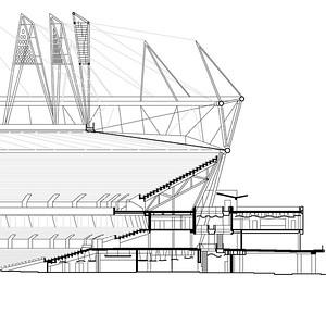 Tribünenquerschnitt Olympiastadion, London (Olympische Spiele 2012)