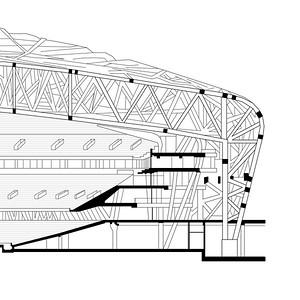 Tribünenquerschnitt Nationalstadion, Peking (Olympische Spiele 2008)