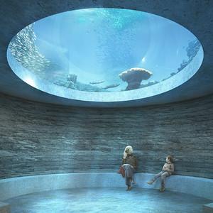 03 Ozeanium Basel: zenitale Belichtung unter dem Wasserbecken | Ozenarium Basel: zenithal skylight under the water basin