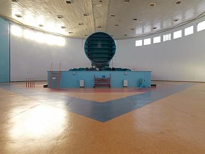 Swjosdny Gorodok: Die Zentrifuge 18 setzt die Kosmonauten im Training für ihre Weltraummissionen den physikalischen Kräften aus, die während des Starts und beim Wiedereintritt in die Atmosphäre entstehen. Foto: Philipp Meuser
