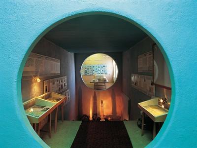 Baikonur: Kryptaähnliche Kammer zum Gedenken an die Opfer der Unglücksfälle in der sowjetisch-russischen Raumfahrtgeschichte. Foto: Philipp Meuser