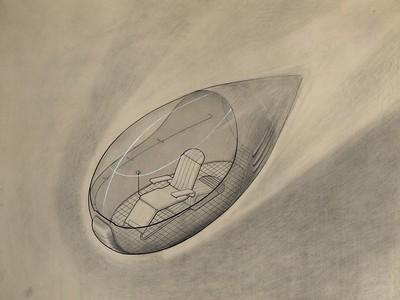 Georgi Tichonowitsch Krutikow: Universal-Kabinenzelle für den Transport (1928). Quelle: Staatliches Schtschussew-Museum für Architektur, Moskau