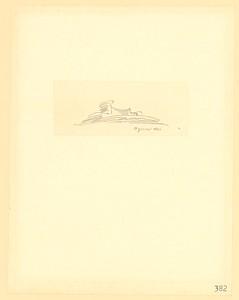 14 Erich Mendelsohn, Utopische Skizze Agnus Dei, undatiert, Bleistift auf Transparentpapier