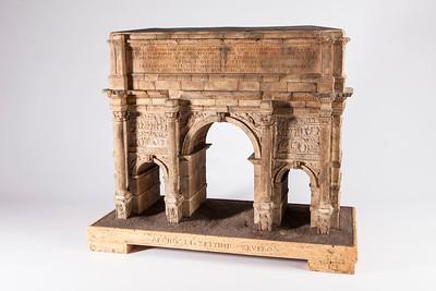 01 Antonio Chichi, Triumphbogen des Septimius Severus, Rom, um 1785, Korkmodell