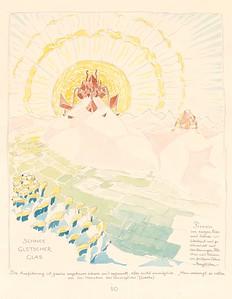 10 Bruno Taut, Schnee, Gletscher, Glas, Zeichnung aus der Publikation Alpine Architektur, 1918, Tusche, Aquarell auf Papier