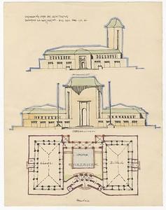 03 Hans Scharoun, Kunsthalle für Werke der Architektur, ca. 1912, Tusche, Bleistift auf Papier
