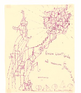 12 Carl Krayl, Einen Licht Gruss aus meinem Sternenhaus, 1920, Lichtpause