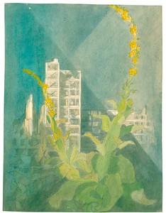16 Max Taut, Ruinen in Berlin, 1946, Tusche, Bleistift und Aquarell auf Papier