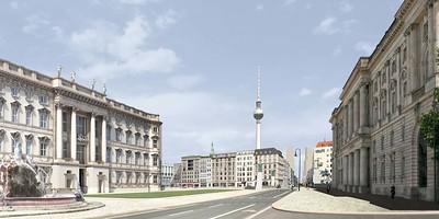 Schlossplatz und Rathausstraße, 2030