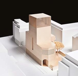Bet- und Lehrhaus House of One, Modell des Siegerentwurfs