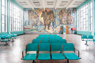 13 Unknown artist, mid-1970s. Interiors oft he Dnipropetrovsk-South train station, Dnipro Ceramic Mosaic