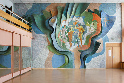 05 Ernest Kotkov, 1977-1979. National University ofPhysical Education and Sport of Ukraine, Kyiv.Painting on relief