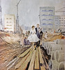 "01/01/1972 Wiedergabe von Yuri Pimenovs Gemälde ""Hochzeit auf der Straße von Morgen"" aus der Sammlung der staatlichen Tretyakov Gallerie.<br>01/01/1972 Reproduction of Yuri Pimenov's painting Wedding on Tomorrow Street from State Tretyakov Gallery collection. <br><br><br>Jurij Pimenov © Tretjakow-Galerie, RIA Novosti"