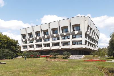 08 Sumy Oblast Universale Wissenschaftliche Bibliothek | Sumy Oblast Universal Scientific Library. 1982—1987. Architekten | Architects: Y. Kobiliakov, A. Ivchenko. Bauingenieur |Construction engineers: V. Sobolevsky, S. Morgoslip. Sumy