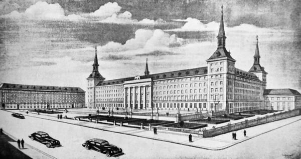07 Zeichnung des Luftfahrtministeriums, Architekt Luis Gutiérrez Soto, 1949.
