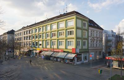 01 Oberhausen, westliche Innenstadt. Marktstraße 24–30.