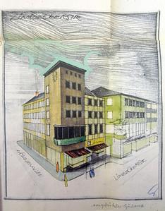06 Wohn- und Geschäftshaus Limbecker Straße 74–78, Architekt Hans Engels, 1956.