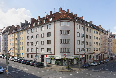 05 Dortmund, Saarlandstraßenviertel. Saarlandstraße 33 Ecke Chemnitzer Straße.