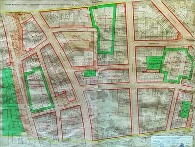 08 Durchführungsplan Nr.10/1, Blatt 2 und 3 (von 4), Durchführungsplan Nr.11, Blatt 2 und 3 (von 4), aufgestellt 1955, durch die Ratsversammlung beschlossen am 29. November 1956.