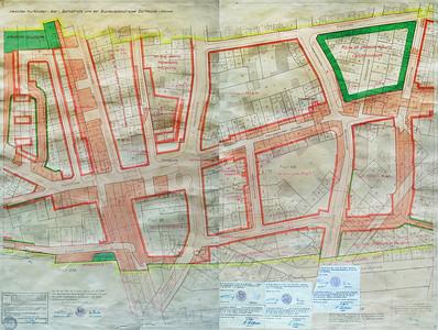07 Durchführungsplan Nr.10/1, Blatt 2 und 3 (von 4), Durchführungsplan Nr.11, Blatt 2 und 3 (von 4), aufgestellt 1955, durch die Ratsversammlung beschlossen am 29. November 1956.