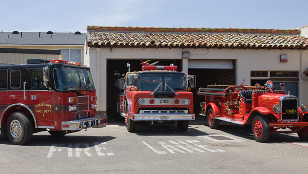 Guadalupe 3 Generations of Fire Engines