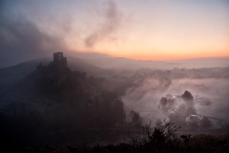 Sunrise, Corfe Castle
