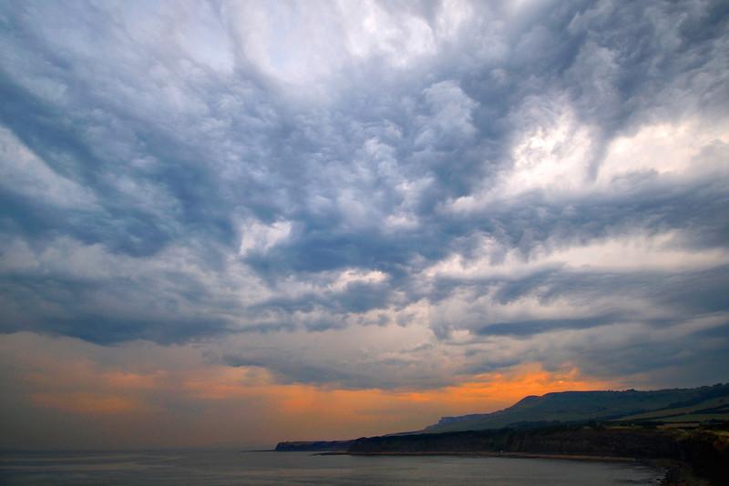 Sunset and Stormy Sky, Kimmeridge