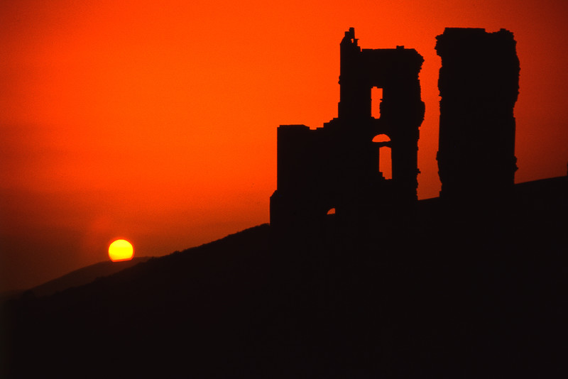 Sunset, Corfe Castle