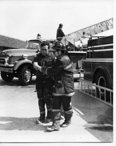 PRENTIS CREEK FIRE  1975  ORRIE SWANSON (L) - KURT VANDAHM  (R)  JOHN WIMMER ON THE TURNTABLE