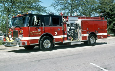 DOWNERS GROVE FD  ENGINE 731  1995  PIERCE SABER   1500-500