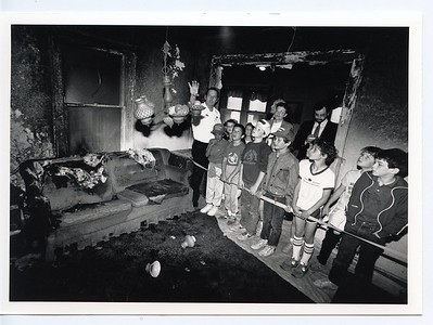 LARRY BEYER SHOWWING WHAT HAPPENS TO A ROOM AFTER A FIRE 5-20-81