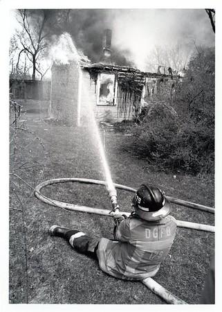 PRACTICE BURN  4-15-87