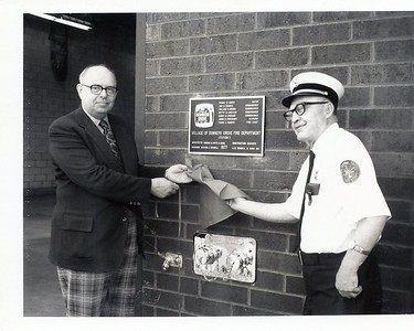 MAYOR FRANK HOUCK AND CHIEF FRANK WANDER STATION 1 DEDICATION 5-25-1977