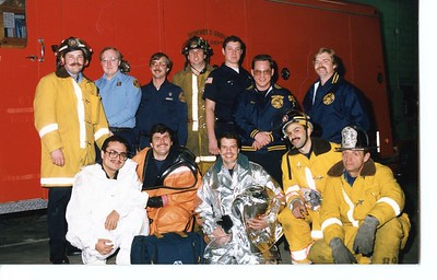 STATION 1 GROUP HOT SHOWING VARIOUS GEAR 11-23-87