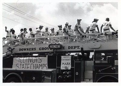 STATE CHAMPS PARADING 8-12-81