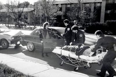ACCIDENT  DICK NIEDOSPIAL, MATT BEYER AND KURT HEINRICH FROM PD