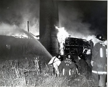 (10-31-65)  GREENHOUSE FIRE ON BELMONT RD  # 90 REED LOY, # 93 DIDCK RILEY, # 105 EARL NICKOLEY AND # 96 JOHN MICHAELS