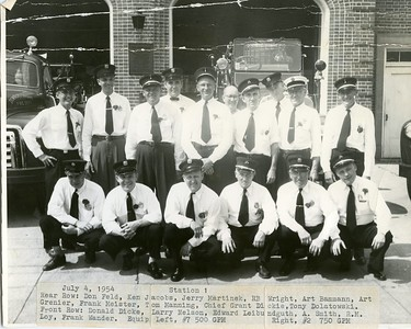 (7-4-54)   GROUP SHOT OF ALL ACTIVE FIRE FIGHTERS