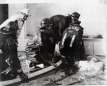 (5-24-64)  DIENER BUILDING FIRE   CHIEF ROBERT BATTEN IN WHITE HELMET - DGEFPD
