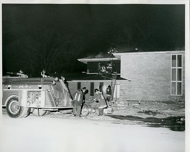 (2-4-70)  59TH & MAIN ST  DR QUIRKS OFFICE  HOUSE UNDER CONSTRUCTION   # 120 TOM SMOOT, KEN JACOBS, JOHN MICHAELS