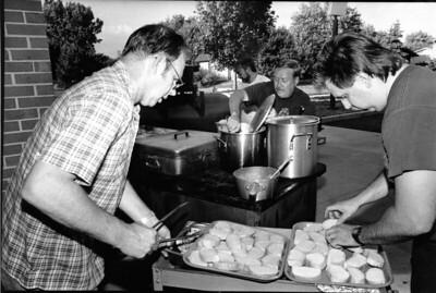 FRANK TUGGLE, DON BUNTING AND GARY MEISER  SPAGHETTI DINNER  8-21-91